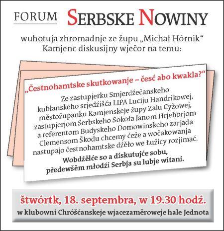 Forum SN-Čestnohamtske dźěło